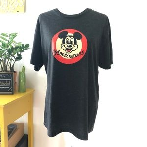 DISNEY PARKS Mouseketeer Gray Tee Size L